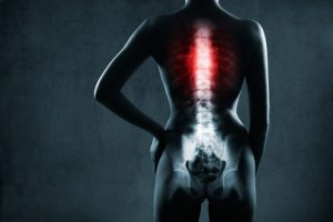 Spine Injury Victim Xray