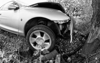 Car Accident against a Tree