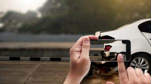 Accident On Street, Damaged Automobiles Take Photo Car Crash Ac