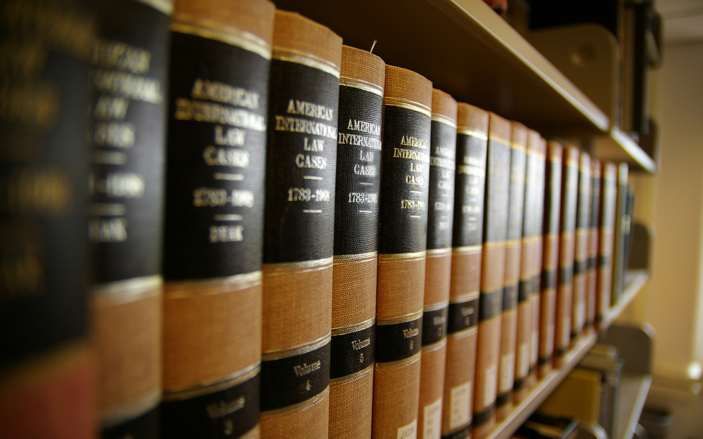 law books at criminal defense attorney office in colorado springs