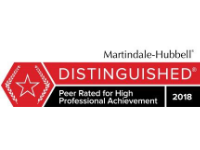 Martindale Hubbel Distinguished Peer Rated For High Professional Achievement In 2018 Badge