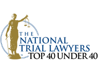 National Trial Lawyers Top 40 Under 40 Award Badge