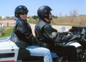Carrie Bush Riding Motorcycles With Her Husband