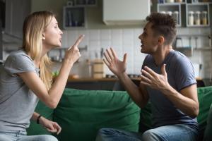Couple Arguing Domestic Violence Ensues