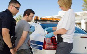 Man Being Arrested For Drug Possession