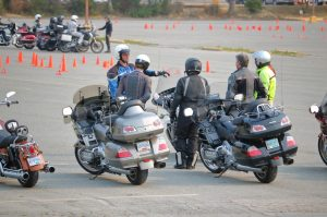 Motorcycle Riders Taking A Safety Course In Colorado Springs