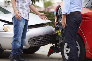 Two Drivers Talking After A Motor Vehicle Accident