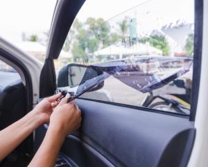 car with tinted windows in colorado