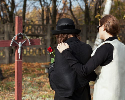 family grieving the loss of a loved one due to wrongful death